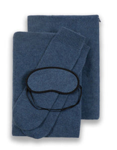 Sofia Cashmere Accessories PORTOFINO TRAVEL SET IN DENIM