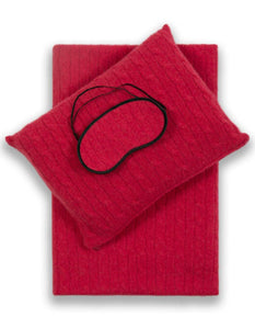 Sofia Cashmere Accessories Red EMILIA TRAVEL SET IN RIBBON RED