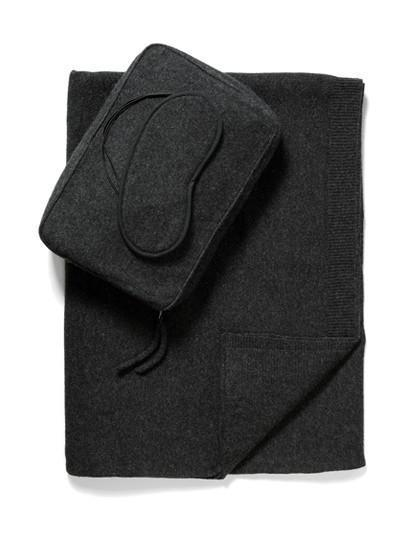 Sofia Cashmere Accessories Romagna Cashmere Travel Set | Charcoal