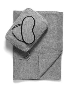 Sofia Cashmere Accessories Romagna Cashmere Travel Set | Grey