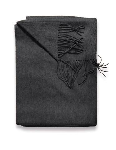 Sofia Cashmere Throws & Blankets Charcoal | Trentino Cashmere Throw