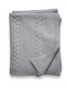 Sofia Cashmere Throws & Blankets Grey CALABRIA CASHMERE THROW IN GREY