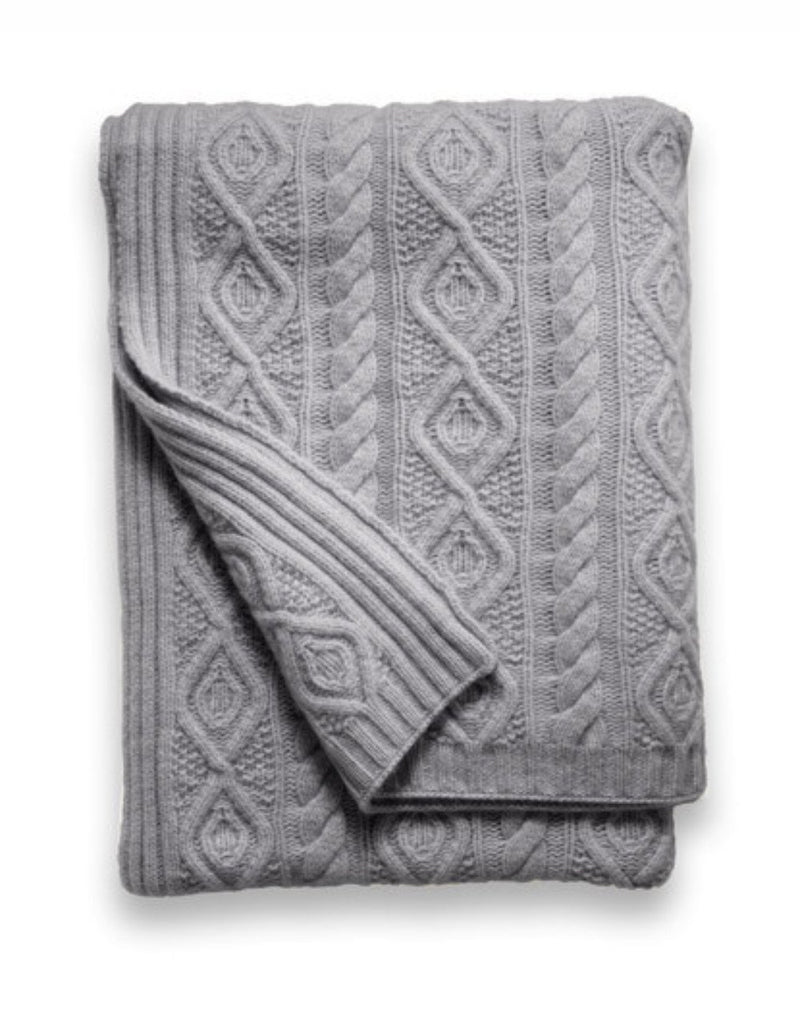 Sofia Cashmere Throws & Blankets Grey CAMPANIA CASHMERE THROW IN GREY