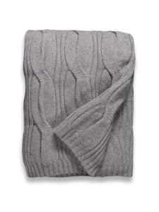 Sofia Cashmere Throws & Blankets Grey New York Grey Cashmere Throw