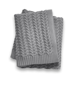 Sofia Cashmere Throws & Blankets Grey TOSCANA CASHMERE THROW IN GREY