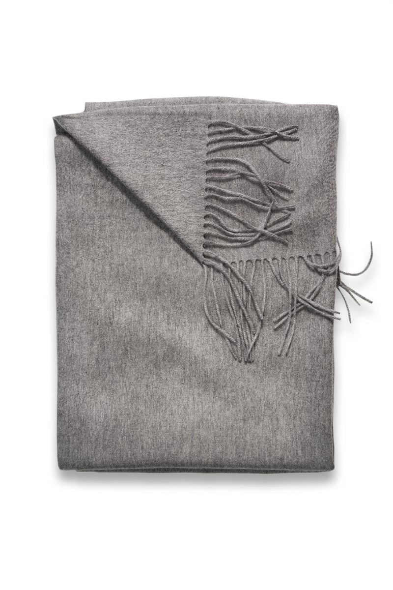 Sofia Cashmere Throws & Blankets Grey TRENTINO CASHMERE THROW IN GREY