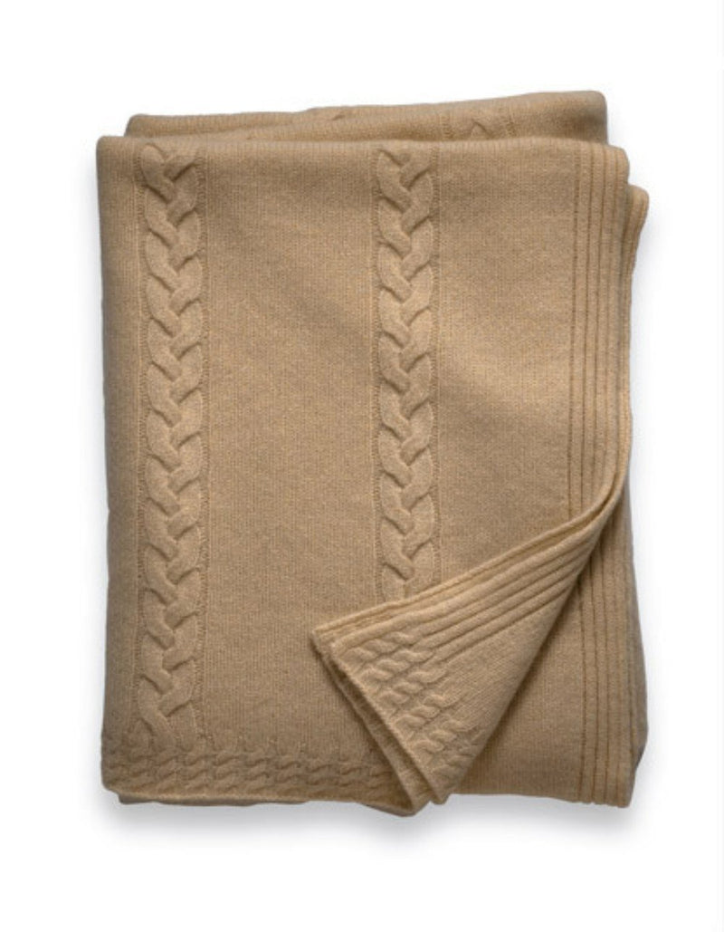 Sofia Cashmere Throws & Blankets Heather Taupe CALABRIA CASHMERE THROW IN HEATHER TAUPE