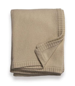 Sofia Cashmere Throws & Blankets Heather Taupe Classico Cashmere Throws