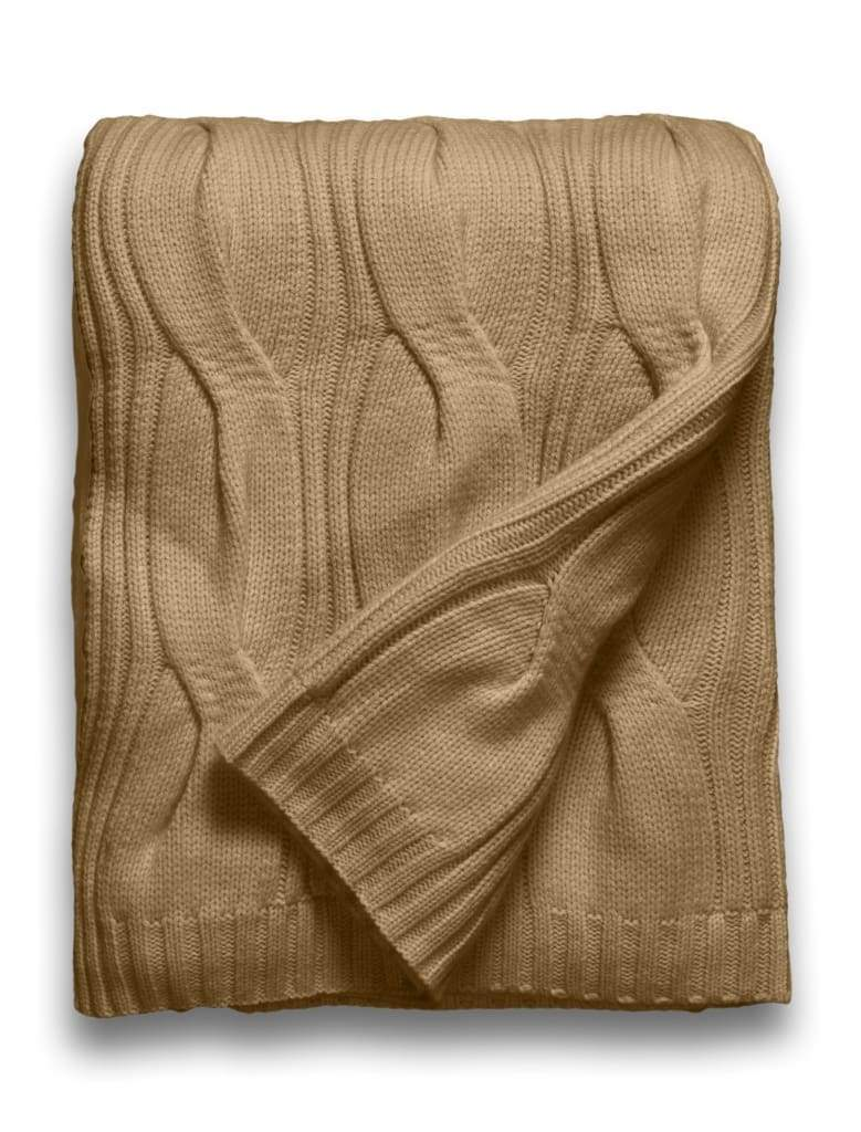 Sofia Cashmere Throws & Blankets Heather Taupe New York Heather Taupe Cashmere Throw