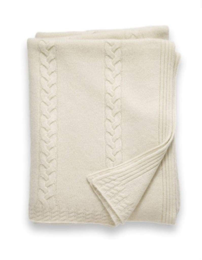Sofia Cashmere Throws & Blankets Ivory Ivory | Calabria Cashmere Throw