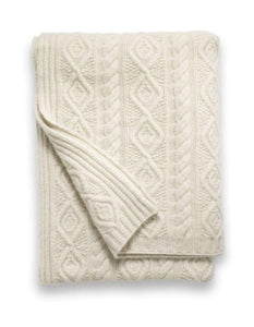 Sofia Cashmere Throws & Blankets Ivory Ivory | Campania Cashmere Throw