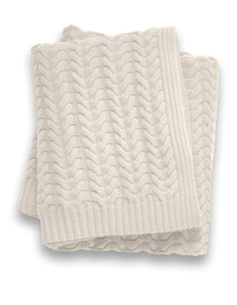 Sofia Cashmere Throws & Blankets Ivory Ivory Toscana Cashmere Throw