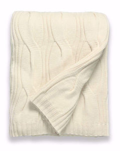 Sofia Cashmere Throws & Blankets Ivory New York Ivory Cashmere Throw