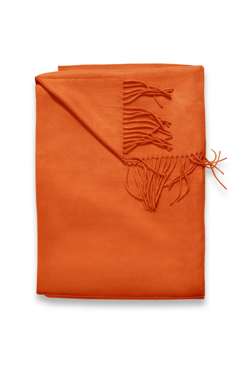Sofia Cashmere Throws & Blankets Orange TRENTINO CASHMERE THROW IN ORANGE