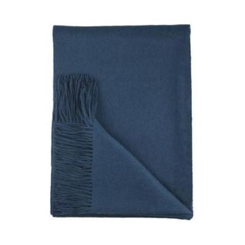 Sofia Cashmere Throws & Blankets Teal | Trentino Cashmere Throw
