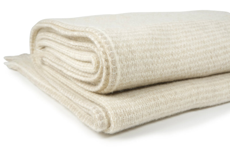 Teixidors Throws & Blankets Honey White Honey White | Nebula Cashmere & Merino Wool