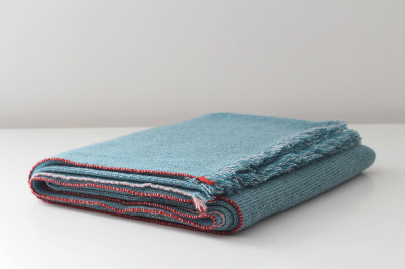 Teixidors Throws & Blankets Ocean Blue OCEAN FUSION CASHMERE THROW