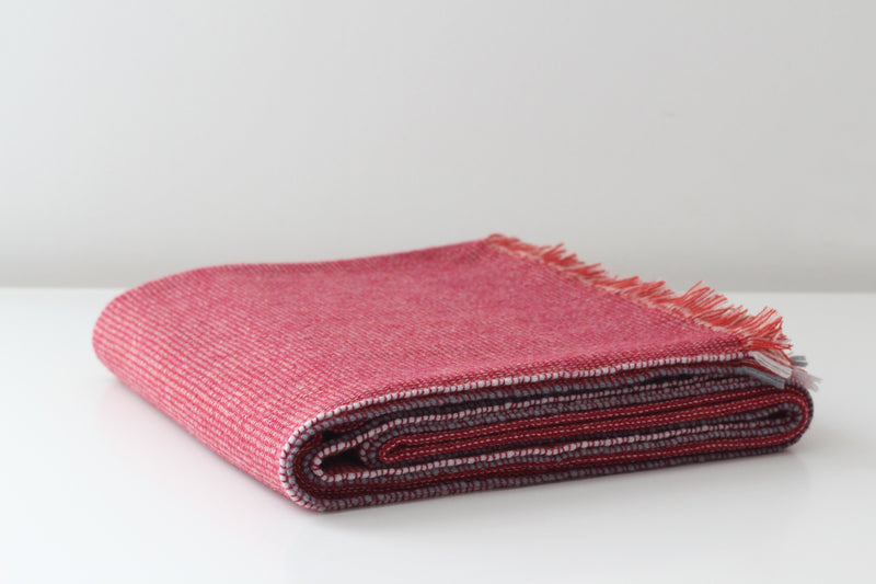 Teixidors Throws & Blankets Plum Red PLUM FUSION CASHMERE THROW