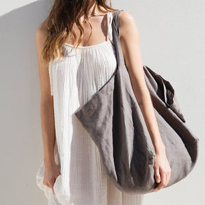 The Beach People Bag Linen Tote Bag - Charcoal