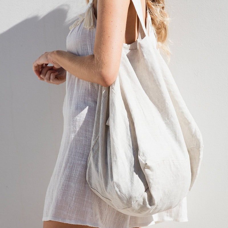 The Beach People bag Linen Tote Bag - Natural