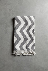 Tinekhome Bathroom Towels Black Chevron Cotton Towel