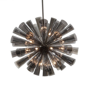 Viz Glass Chandelier Black FLUTE CHANDELIER