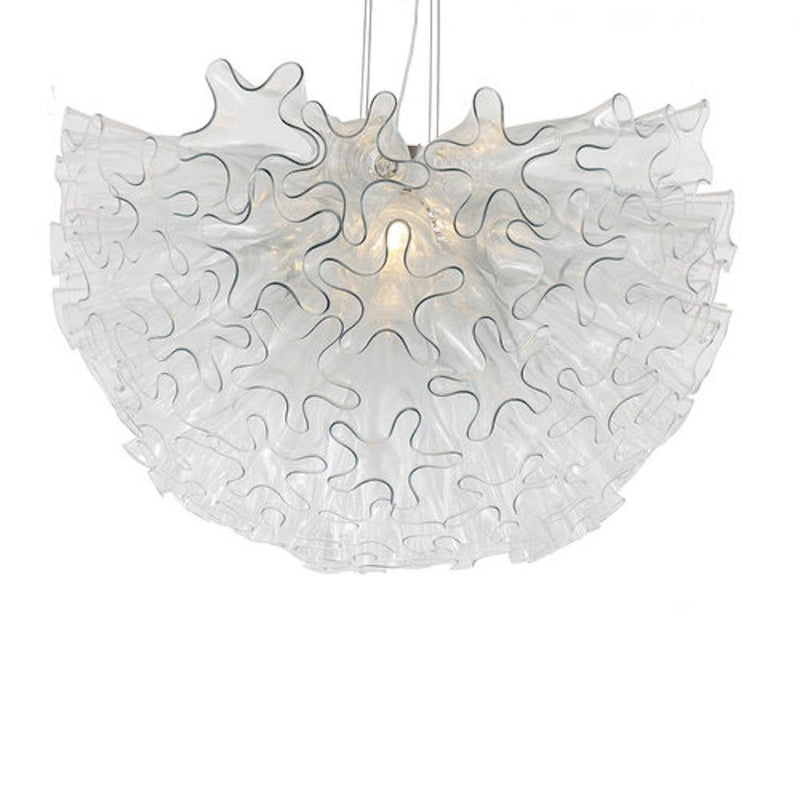 Viz Glass Chandelier Clear DAHLIA SMALL CHANDELIER