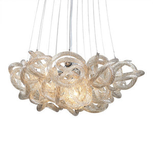 Viz Glass Chandelier Small / Chrome INFINITY CHANDELIER