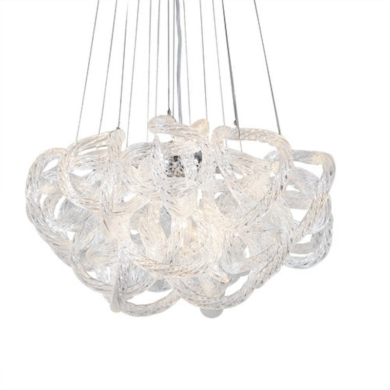 Viz Glass Chandelier Small / Clear Glass INFINITY CHANDELIER