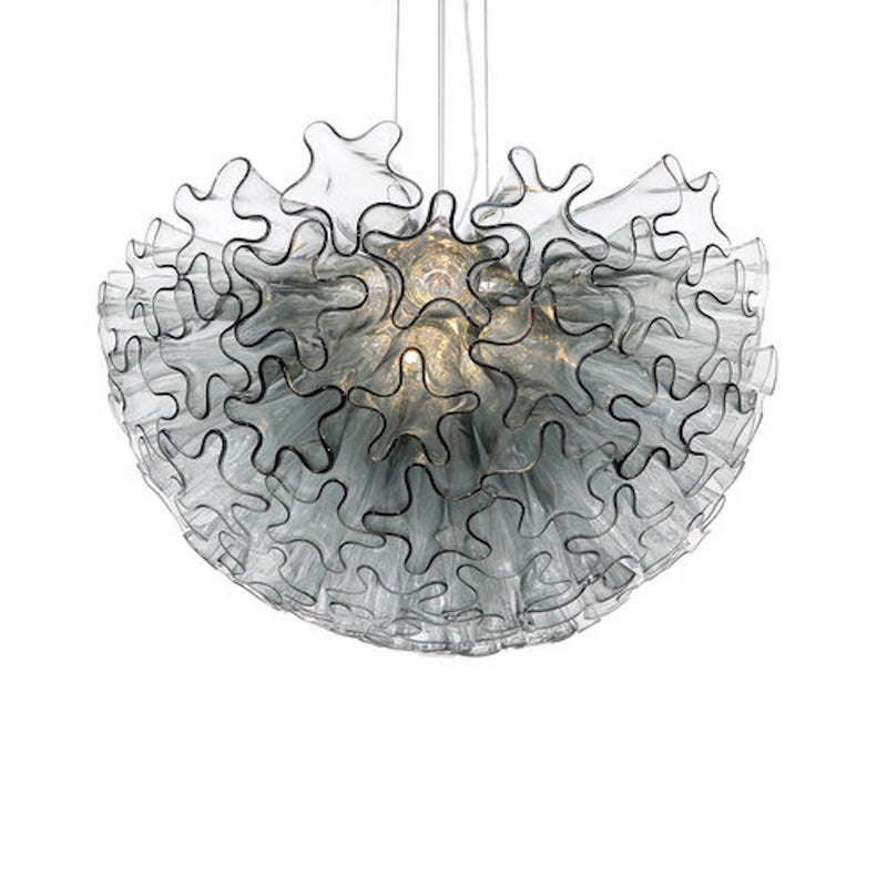 Viz Glass Chandelier Smoke Grey DAHLIA MINI CHANDELIER