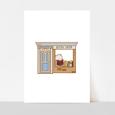 Brambleberry Book Shop Art Print
