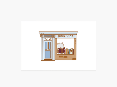 Brambleberry Book Shop Postcard