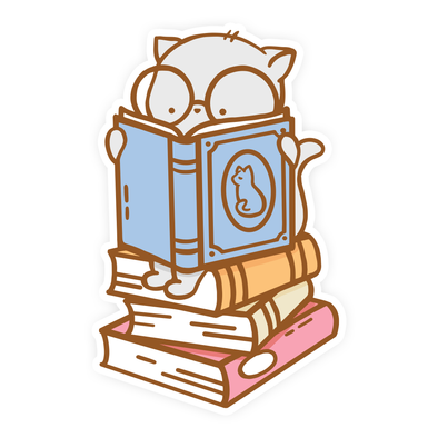 Clementine Book Stack Vinyl Sticker