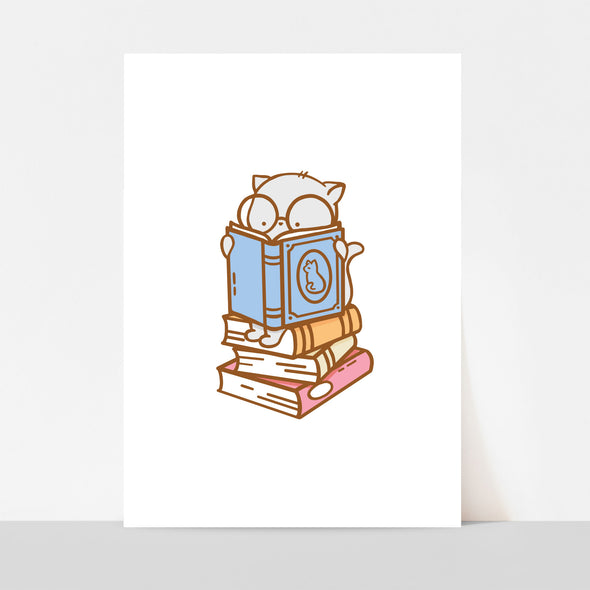 Clementine Book Stack Art Print