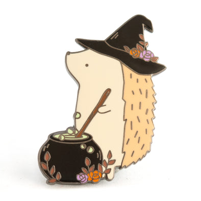 Hedgehog Witch Pin