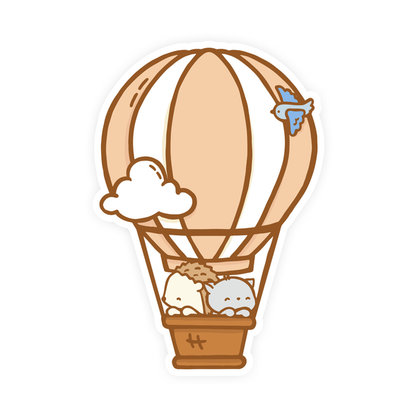Hot Air Balloon Vinyl Sticker