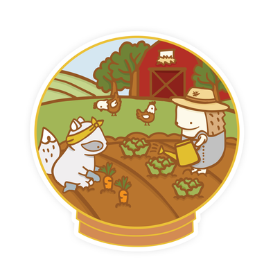 Little Worlds Farmer Vinyl Sticker