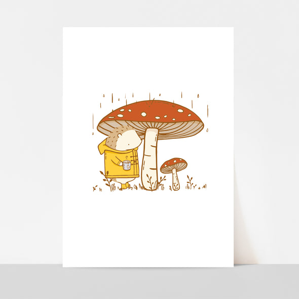 Mushrooms & Tea Art Print