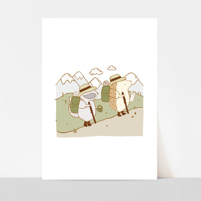Backpacking Art Print