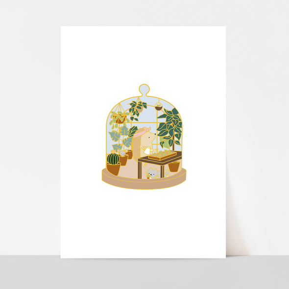 Little Worlds Plant Mom Art Print