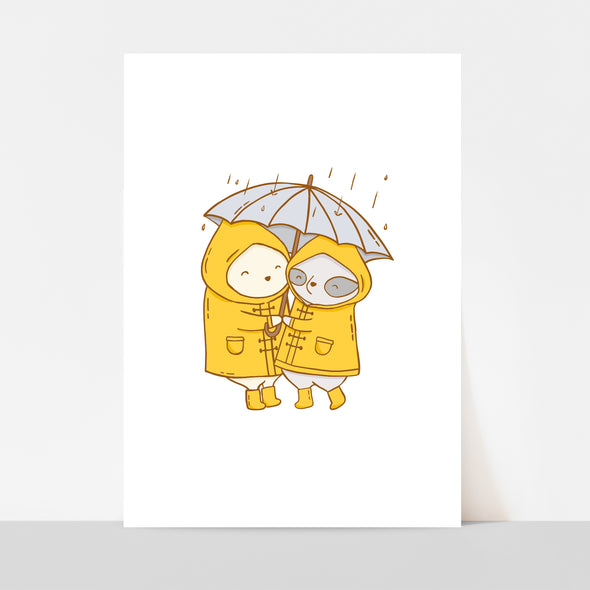 Besties Umbrella Art Print