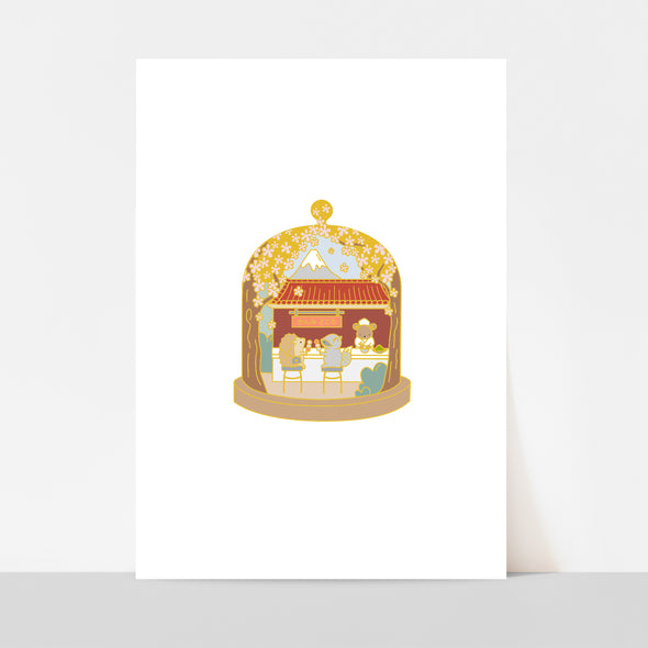 Little Worlds Japan Art Print