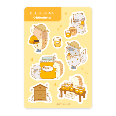 Beekeeping Adventures Sticker Sheet