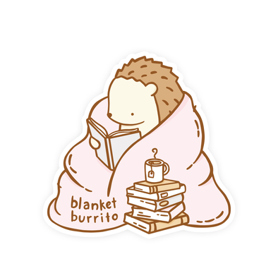 Blanket Burrito Vinyl Sticker