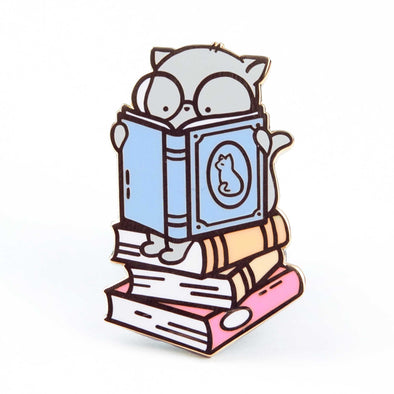 Clementine Book Stack Pin