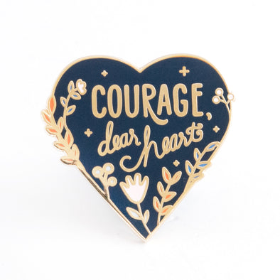 Courage, Dear Heart Pin - Navy