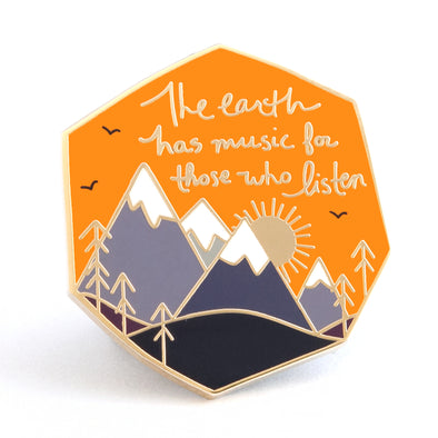 The Earth Has Music Pin - Day Version