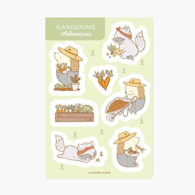Gardening Sticker Sheet