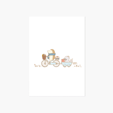 Biking Adventures Greeting Card