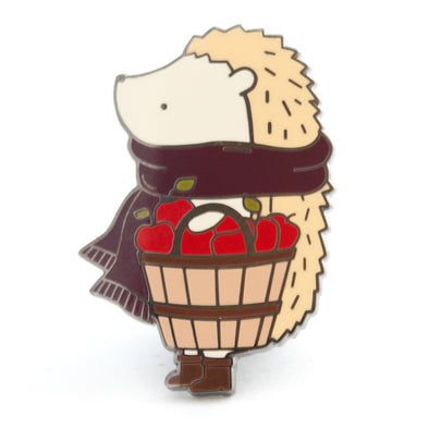 Hedgehog Apple Picking Pin // Fall 2019